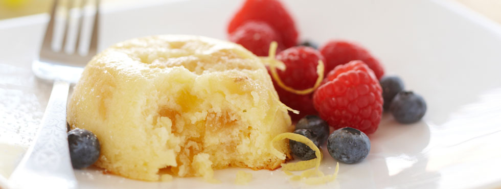 Warm lemon pudding cake recipe