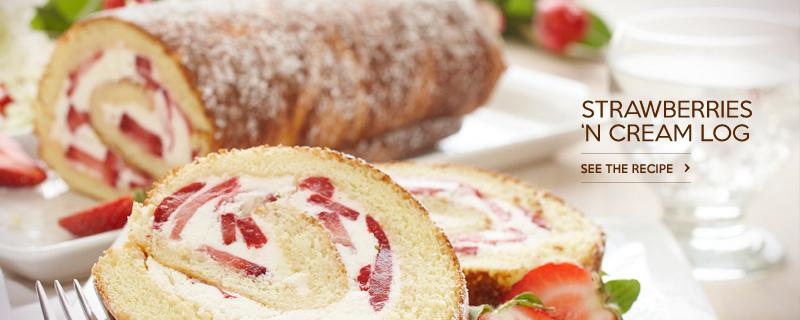 Strawberries n Cream Log
