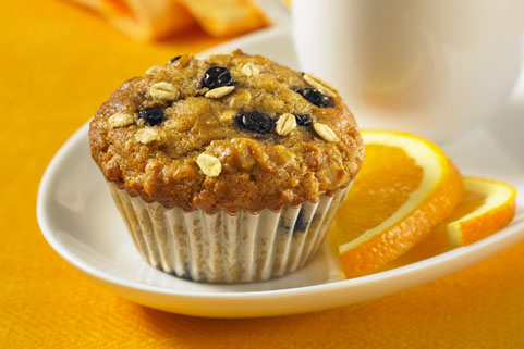 Blueberry Oat Flaxseed Muffins