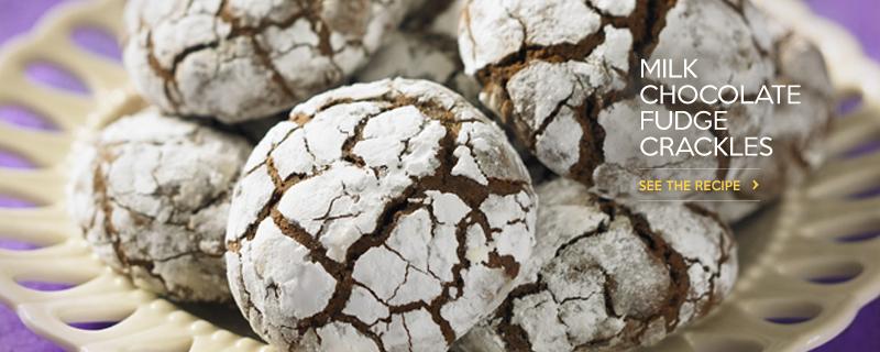 Milk Chocolate Fudge Crackles