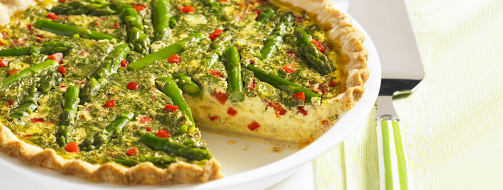 Asparagus Custard Quiche | Recipes