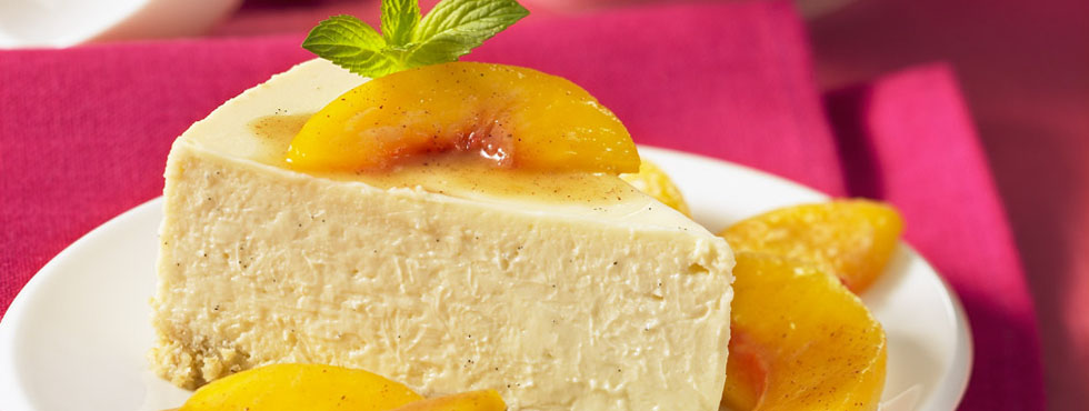 Vanilla Bean Cheesecake With Peaches | Recipes