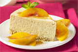 Vanilla Bean Cheesecake With Peaches