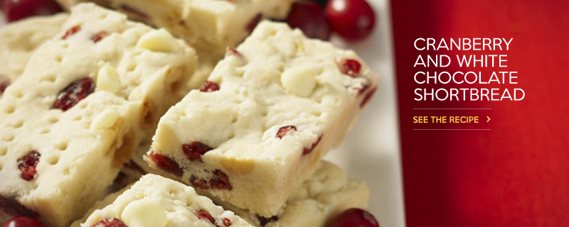 Cranberry & White Chocolate Shortbread