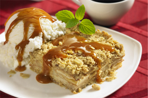 Toffee Apple Squares