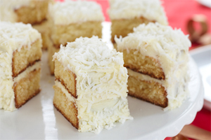 White Chocolate Coconut Layer Cake