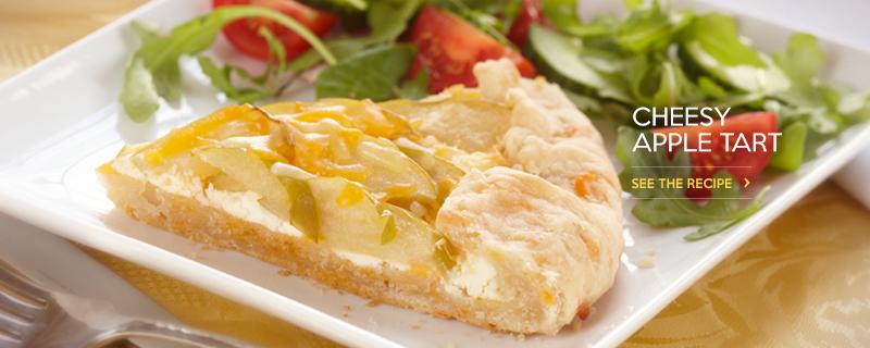 Cheesy Apple Tart