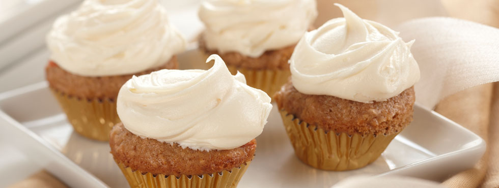 Mini Carrot Cupcakes with Cream Cheese Icing | Recipes