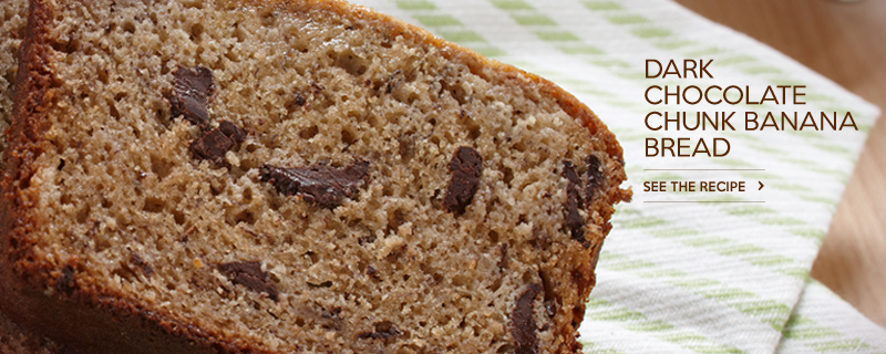 Dark Chocolate Chunk Banana Bread
