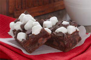 Hot Chocolate Brownies