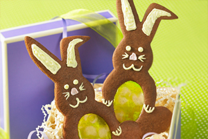 Hopping Chocolate Bunnies