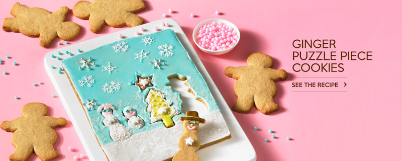 Ginger Puzzle Piece Cookies