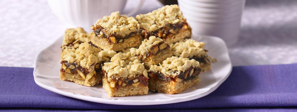 Crunchy Nut Date Squares | Recipes