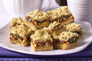 Crunchy Nut Date Squares