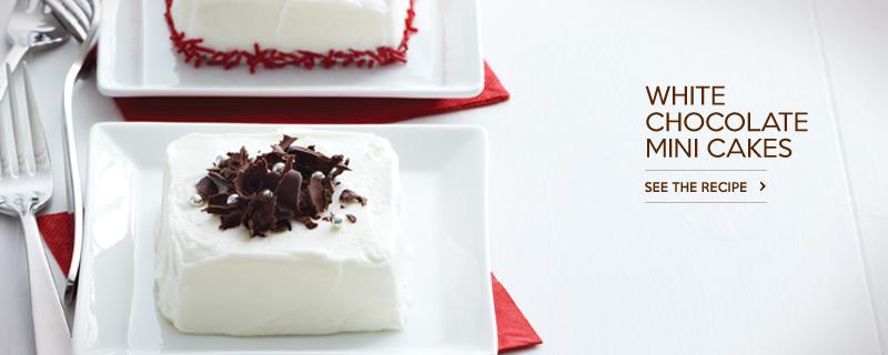 White Chocolate Mini Cakes
