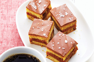 Sweet and Salty Chocolate Caramel Bars