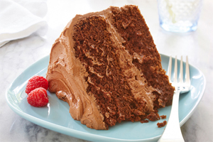 Gluten Free* Chocolate Fudge Layer Cake