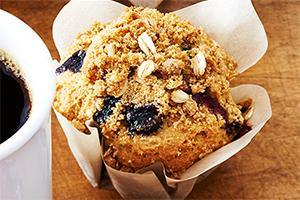 Muffins streusel aux bleuets