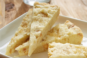 Cashew Cardamom Shortbread Wedges