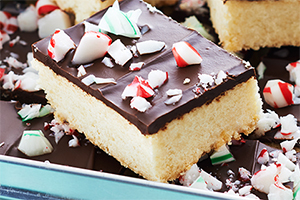 Candy Cane Shortbread Bars
