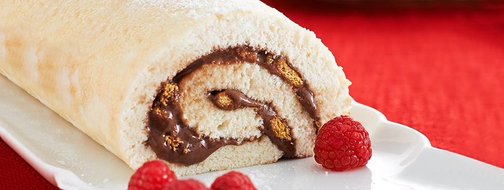 S'mores Angel Food Cake Roll | Recipes