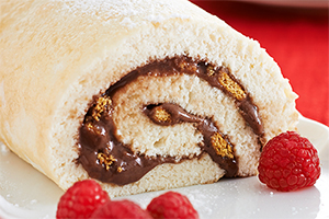 S'mores Angel Food Cake Roll