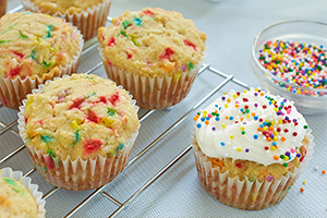 Party Time Vanilla Cupcakes*