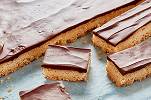 Chocolate Shortbread Bars*