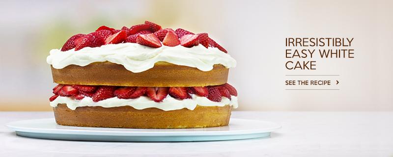 Irresistibly Easy White Cake