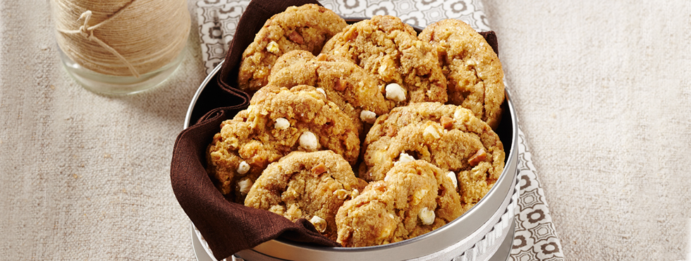 Salted Toffee Popcorn Cookies | Recipes