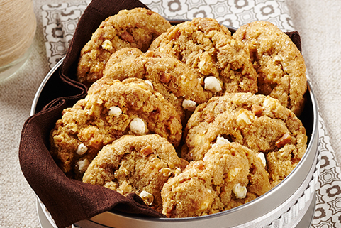 Salted Toffee Popcorn Cookies