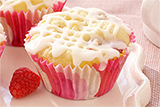 Raspberry White Chocolate Chunk Cupcakes