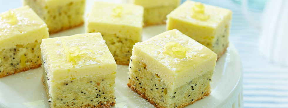 Double Lemon Poppy Seed Squares | Recipes