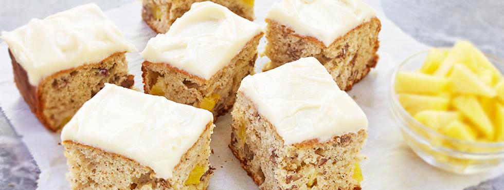 Banana Pecan Pineapple Snack Cake | Recipes
