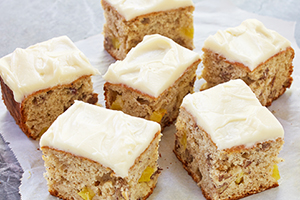 Banana Pecan Pineapple Snack Cake