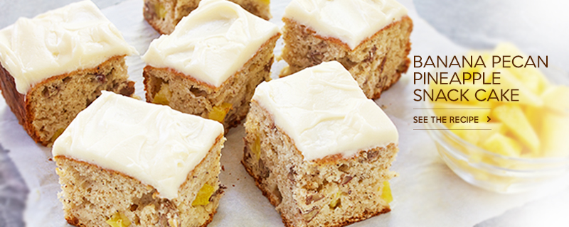 Banana Pecan Pineapple Snack Cake