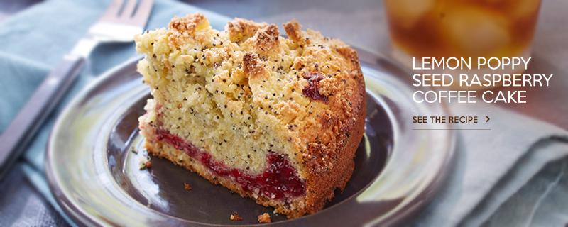 Lemon Poppy Seed Raspberry Coffee Cake