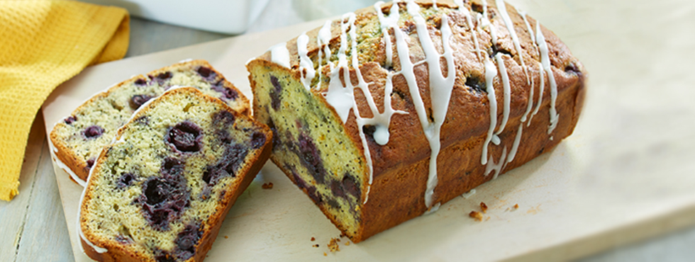 Lemon Poppy Seed Blueberry Loaf | Recipes