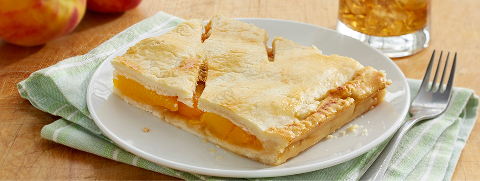 Peachy Slab Pie | Recipes