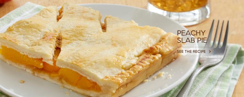 Peachy Slab Pie