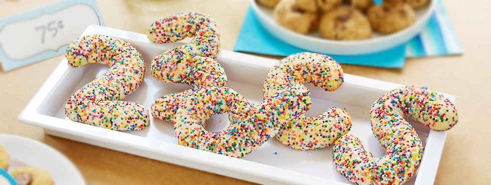 Sprinkled Sugar Cookie Shapes | Recipes