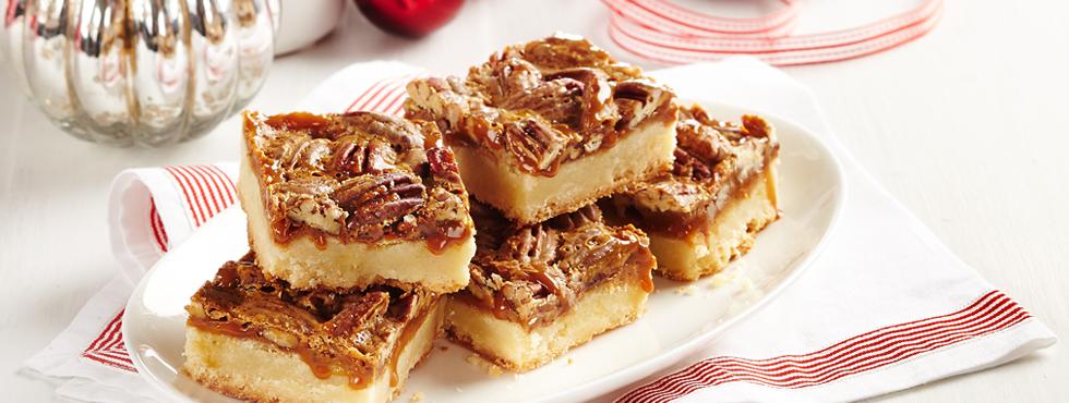 Caramel Pecan Squares Recipe — Dishmaps