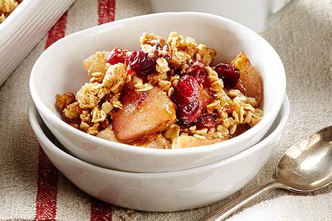 Pear & Cranberry Crisp