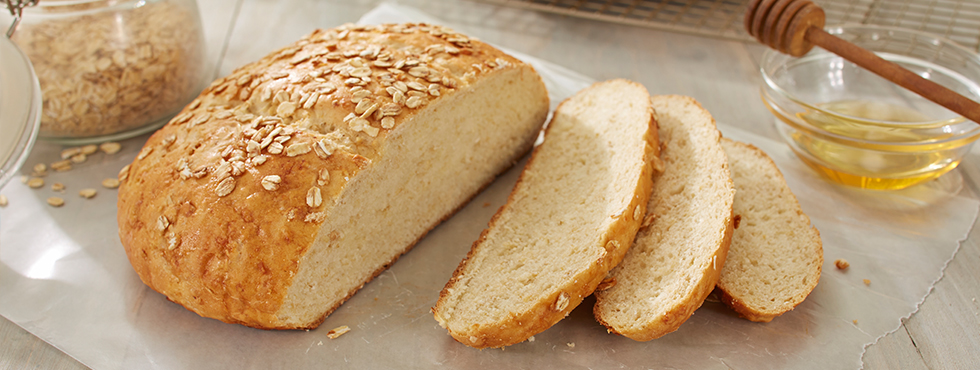 Rustic Honey Oatmeal Bread | Recipes