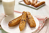 Gluten Free* Banana Chocolate Chip Biscotti