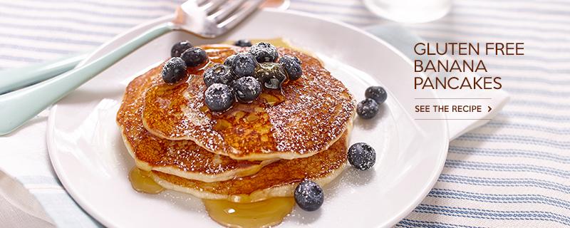 Gluten Free* Banana Pancakes