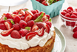 Red Berry Cake with Fresh Mint