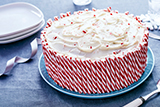 Chocolate Candy Cane Crunch Cake