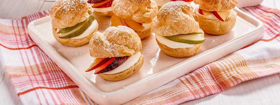 Creamy Fruit Filled Cream Puffs | Recipes