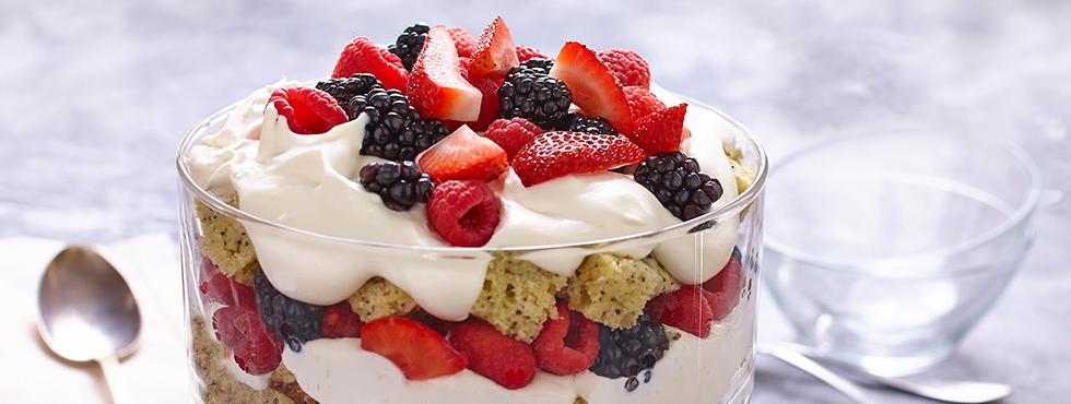 Very Berry Lemon Poppy Seed Trifle | Recipes